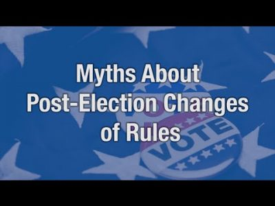 Myths About Post Election Rule Changes