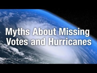 Myths about Missing Votes and Hurricanes